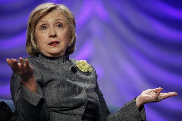 Hillary Clinton breaks the glass ceiling