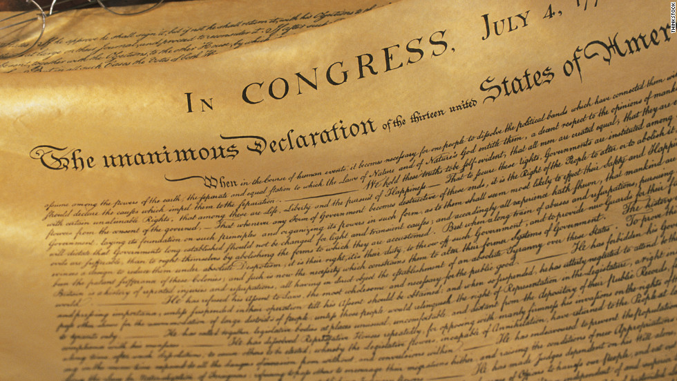 the distractions in the declaration of independence in america